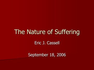 The Nature of Suffering - Healthcare Professionals