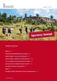 Ausgabe Nr. 2, Speranza bewegt - April 2010 - Stiftung Speranza