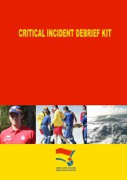 Critical Incident Debrief Flow-Chart - Surf Life Saving NSW