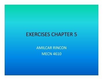 EXERCISES CHAPTER 5