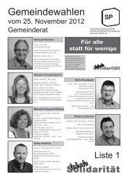 Gemeindewahlen Wahlen vom 25. November 2012 (.pdf) - SP Urtenen