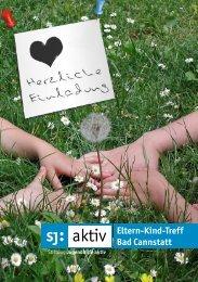 Flyer Eltern-Kind-Treff Cannstatt - Stiftung Jugendhilfe aktiv