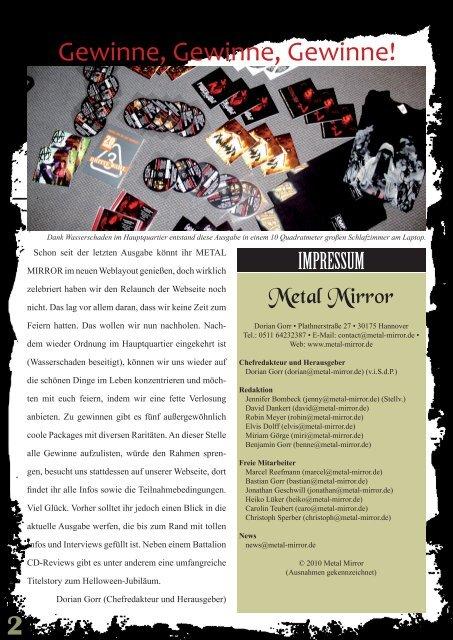 METAL MIRROR #35 - Helloween, Ov Hell, Tankard, Audrey Horne ...