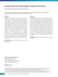 Enxerto ósseo em odontologia: revisão de literatura - Rev@Odonto