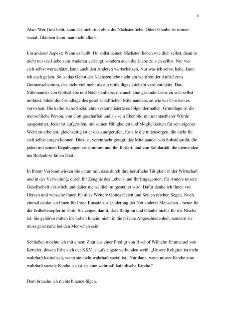 Vortrag von Weihbischof Schepers - KKV