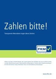 www.fkm.de Transparente Messedaten tragen dieses Zeichen:
