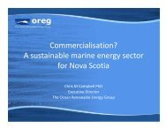 A sustainable marine energy sector for Nova Scotia