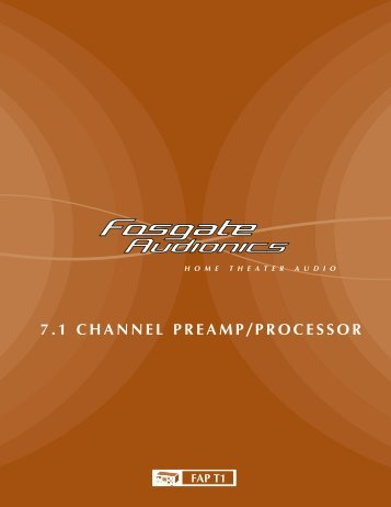 7.1 channel preamp/processor - Fosgate Audionics