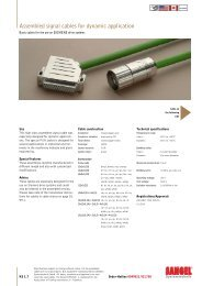 Assembled signal cables for dynamic application - Acumo