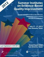 Summer Institutes on Evidence-Based Quality ... - RegOnline