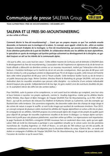 SALEWA et le free-ski-mountaineering (PDF)