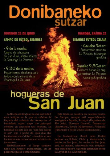 Programa Hogueras de San Juan año 2013
