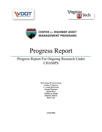 Ongoing Research Under CHAMPS Report - Virginia Tech