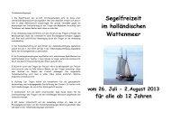 Segelfreizeit im holländischen Wattenmeer - magni-kirche.de