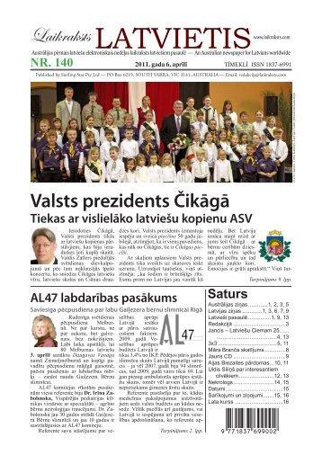 """Tiekas ar vislielāko latviešu kopienu ASV - Laikraksts """"Latvietis"""""""