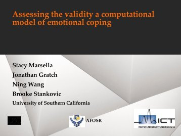 Assessing the validity a computational model of emotional coping