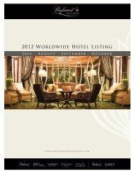 2012 Worldwide Hotel Listing