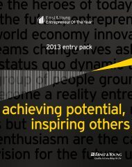 2013 entry pack - Ernst & Young