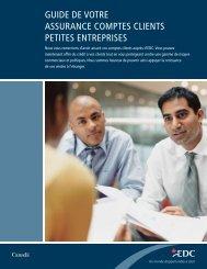 Guide de votre assurance comptes clients petites entreprises ... - EDC