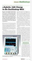 Hybrid« hält Einzug in die Oszilloskop-Welt - Yokogawa
