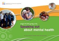 Speaking out about mental health - Commissioner for Children and ...