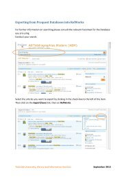 Exporting from Proquest Databases into RefWorks - Library ...