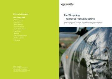 Car-Wrapping – Fahrzeug-Vollverklebung - diffrent design gmbh