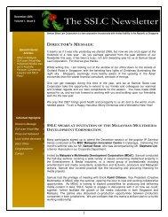 The SSLC Newsletter - Samuel Seow Law Corporation