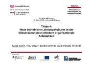These 4: Neue betriebliche Leistungskulturen in der ... - PRÄWIN