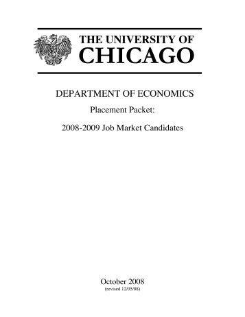 CHICAGO - University of Chicago Department of Economics