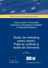 Studiu de marketing pentru export: Piaţa de confecţii şi textile - miepo