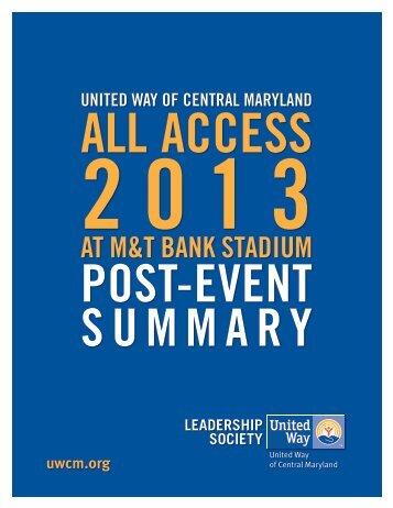 """All Access"" thank you event - United Way of Central Maryland"