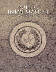 Public Information Act - Texas Tech University