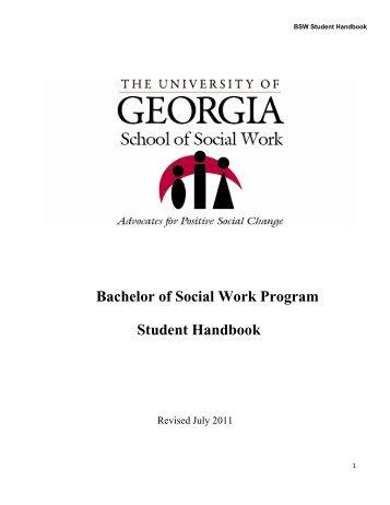 BSW/MSW handbook - University of Georgia School of Social Work
