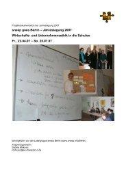 sneep goes Berlin – Jahrestagung 2007 Wirtschafts ... - Youth Bank