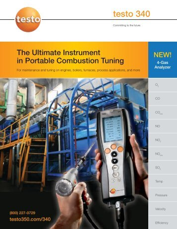 testo 340 Brochure.pdf - Portable Emission and Combustion Analyzers