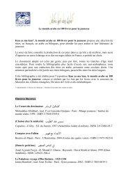 Le monde arabe en 100 livres pour la jeunesse Kan ya ma kan*, le ...