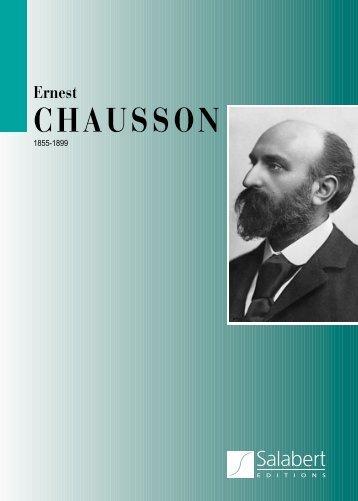 Ernest CHAUSSON - durand-salabert-eschig