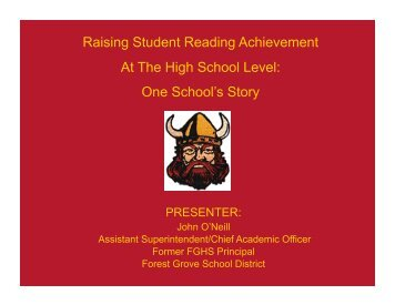 Raising Student Reading Achievement At The High School Level ...