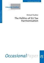 The Politics of EU Tax Harmonisation - Friedrich Naumann Foundation