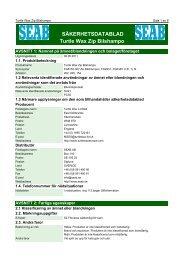 Säkerhetsdatablad (MSDS) (358.4 KB - pdf) - Jula