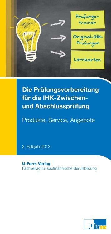 Produktübersicht 2. Halbjahr 2013.indd - u-form:e