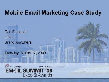 Mobile Email Marketing Case Study - MarketingSherpa