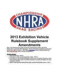 2013 Exhibition Vehicle Rulebook Supplement ... - NHRA.com