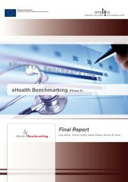 eHealth Benchmarking (Phase II) Final Report