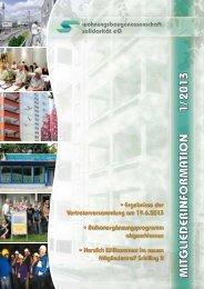 Mieterzeitung 1/2013 - Wohnungsbaugenossenschaft Solidarität eG