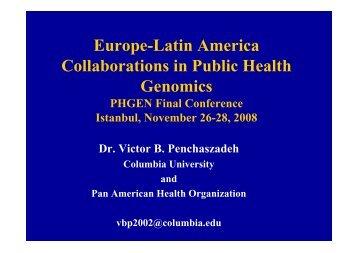 Europe-Latin America Collaborations in Public Health ... - PHGEN