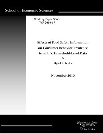 Effects of Food Safety Information on Consumer Behavior