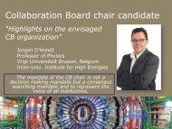 Collaboration Board chair candidate - IIHE