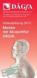 Flyer Meisterkurse 2013 - bei der DÄGfA